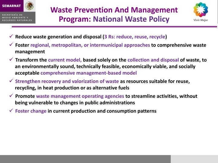 Waste Prevention And Management Program: