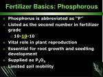 fertilizer basics phosphorous