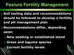 pasture fertility management