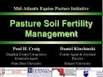 pasture soil fertility management