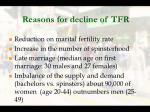 reasons for decline of tfr