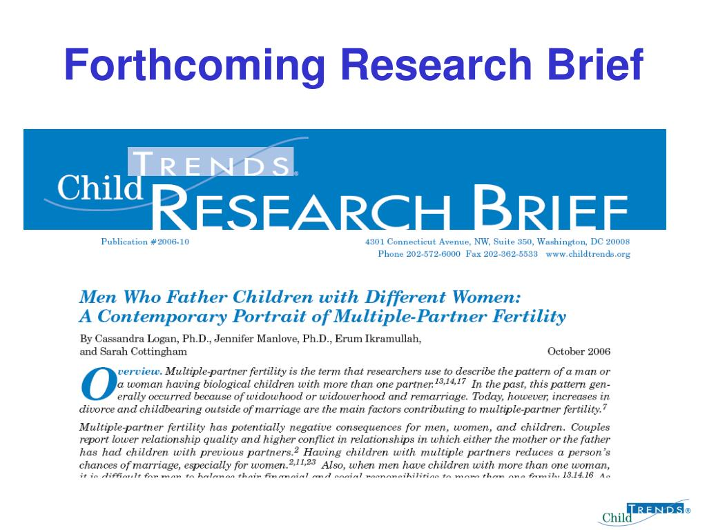 Forthcoming Research Brief