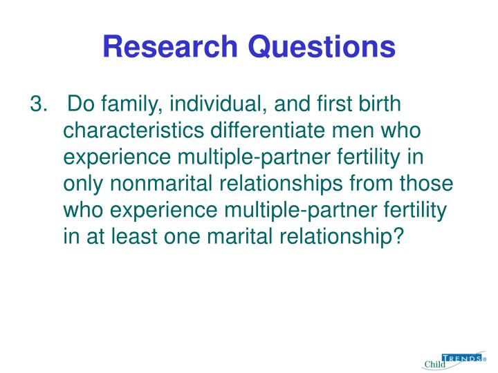 Research questions3