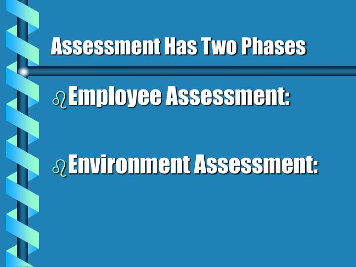 Assessment Has Two Phases