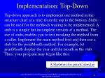 implementation top down