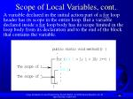 scope of local variables cont1