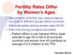 fertility rates differ by women s ages