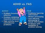 adhd vs fas