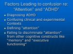 factors leading to confusion re attention and adhd