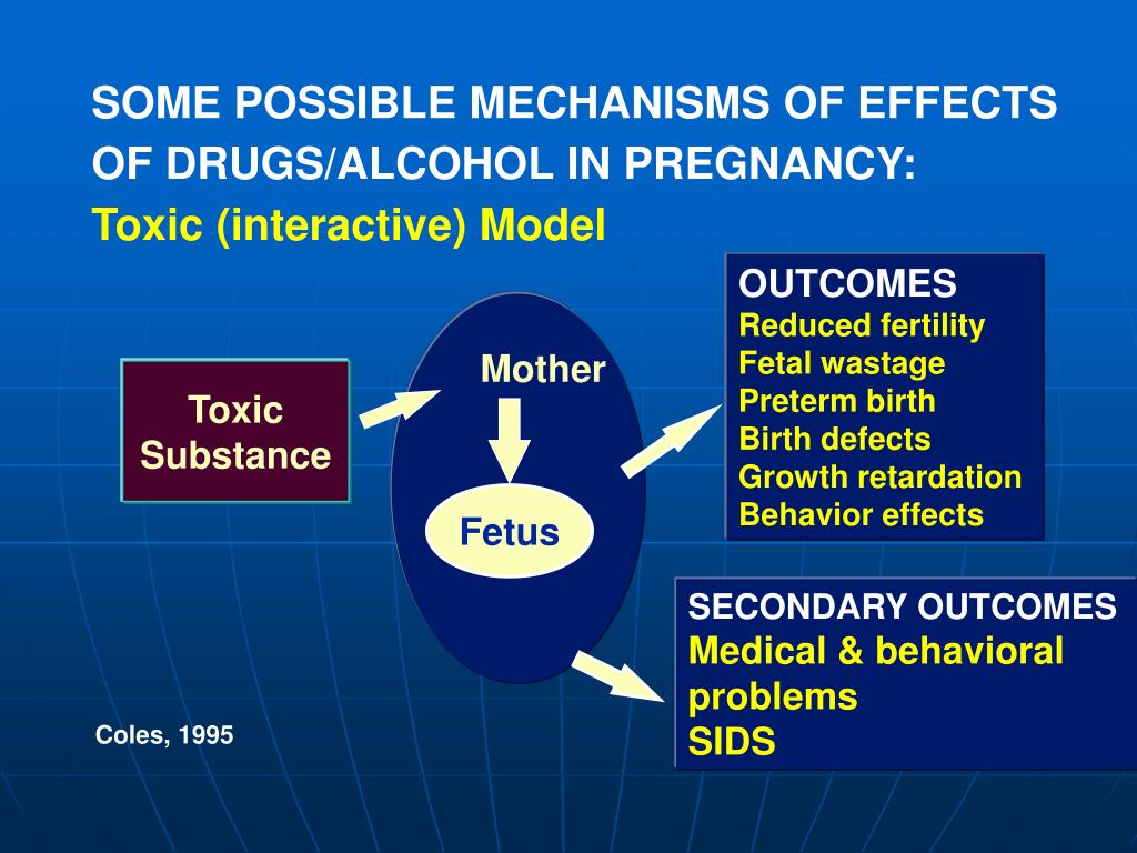 SOME POSSIBLE MECHANISMS OF EFFECTS OF DRUGS/ALCOHOL IN PREGNANCY: