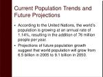 current population trends and future projections