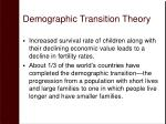 demographic transition theory25