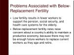 problems associated with below replacement fertility32