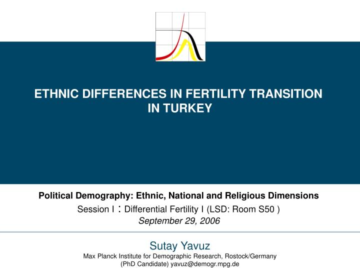 ETHNIC DIFFERENCES IN