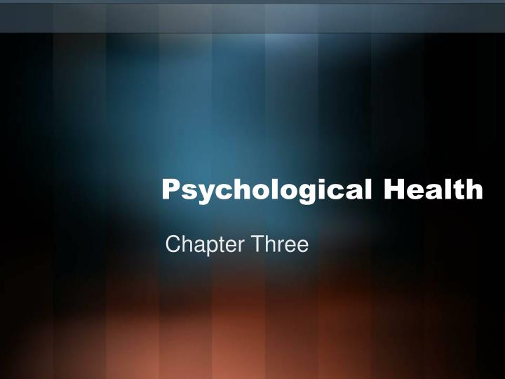psychological health n.