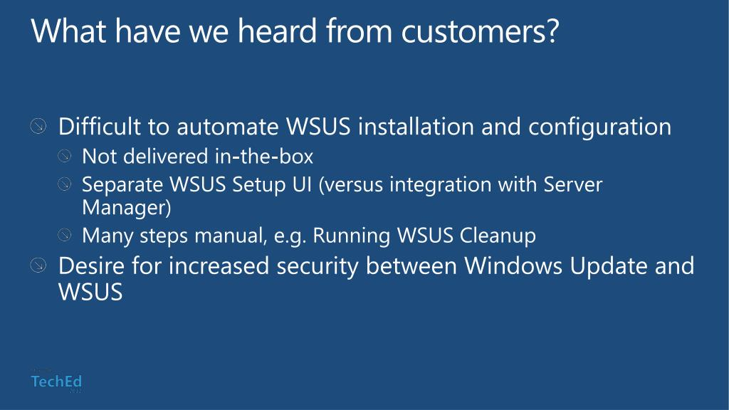 PPT - Update Management in Windows Server 2012: Revealing