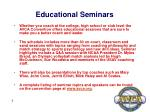 educational seminars