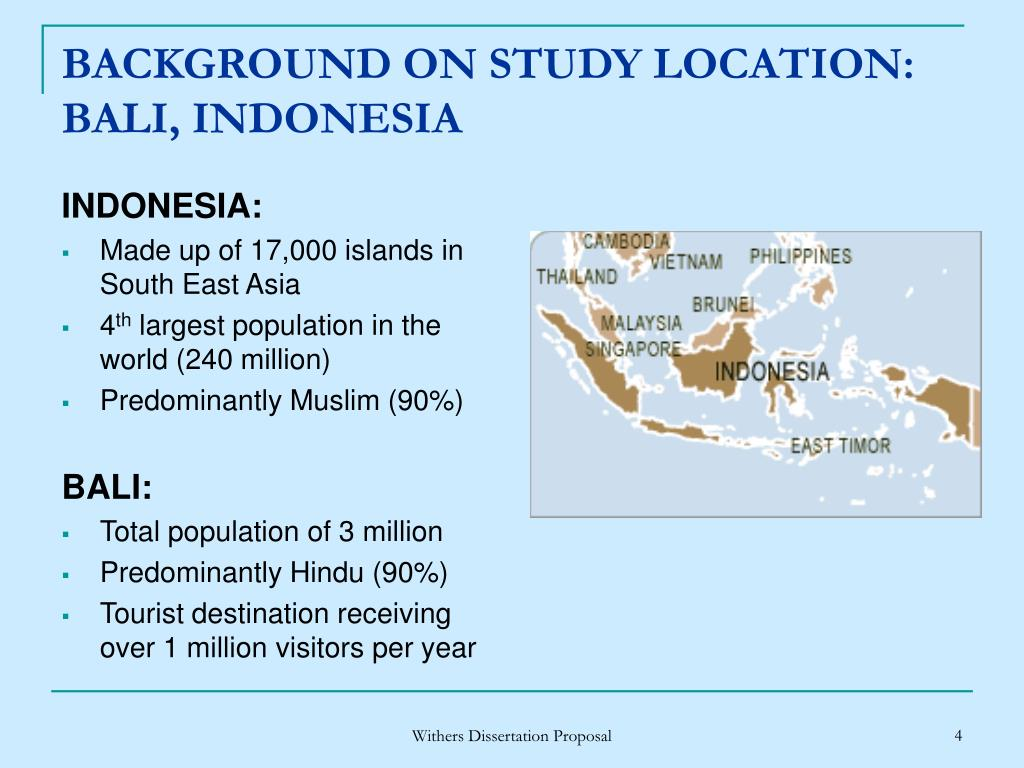 BACKGROUND ON STUDY LOCATION: BALI, INDONESIA