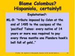 blame colombus hispaniola certainly44