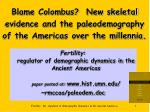 blame colombus new skeletal evidence and the paleodemography of the americas over the millennia