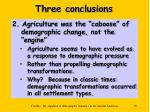 three conclusions39