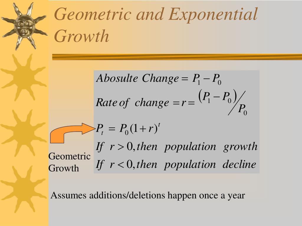 Geometric and Exponential Growth