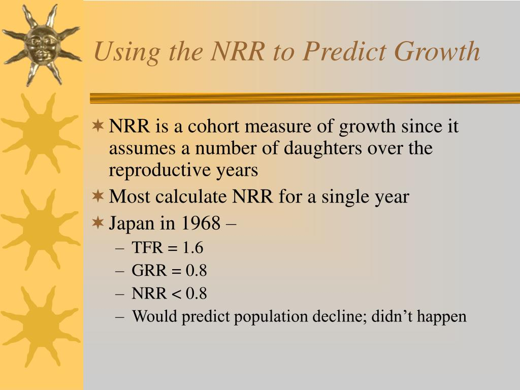 Using the NRR to Predict Growth