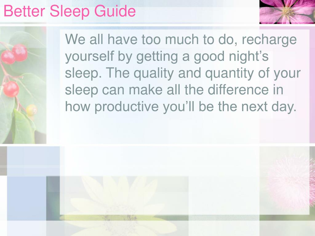 Better Sleep Guide
