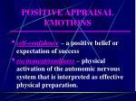 positive appraisal emotions