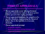 threat appraisals