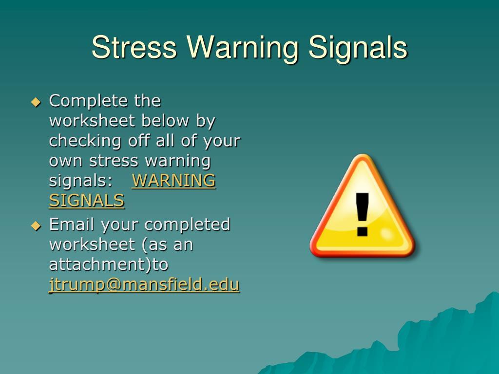 Stress Warning Signals