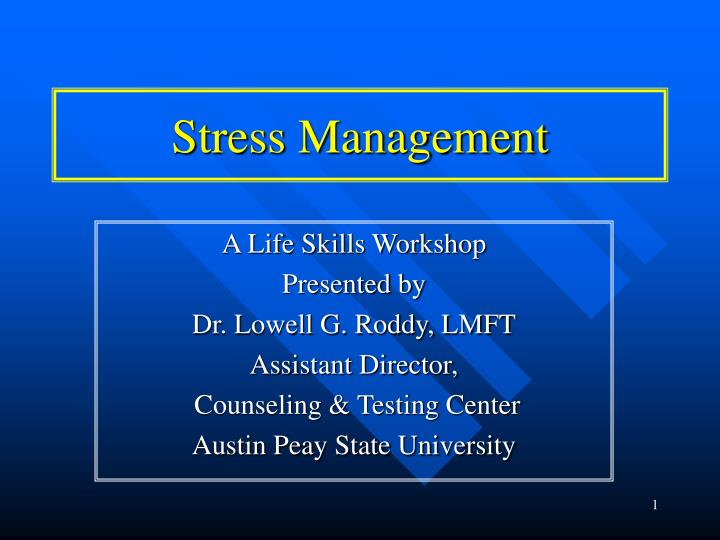 an analysis of stress management and eustress a healthy stressor