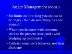 anger management cont