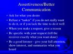 assertiveness better communication