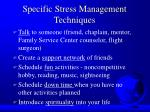 specific stress management techniques