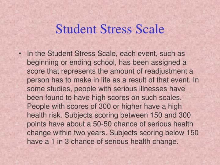 Student stress scale