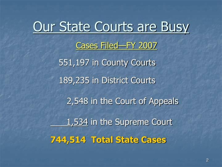 Our state courts are busy