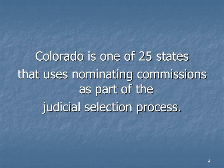 Colorado is one of 25 states
