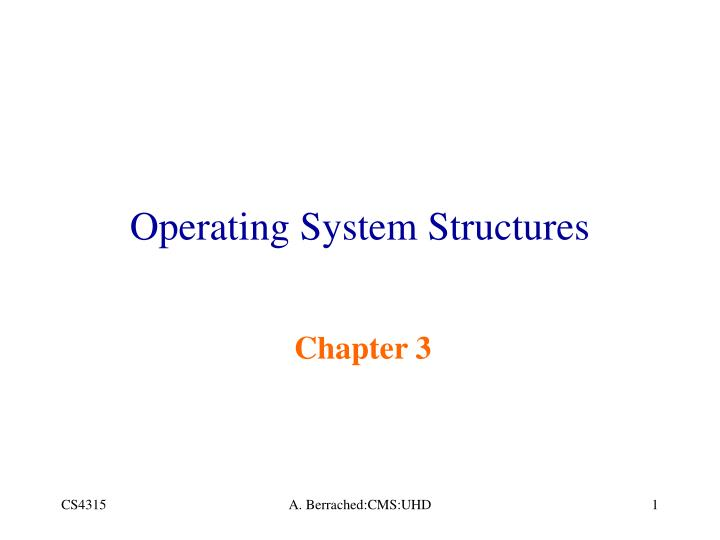operating system structures n.