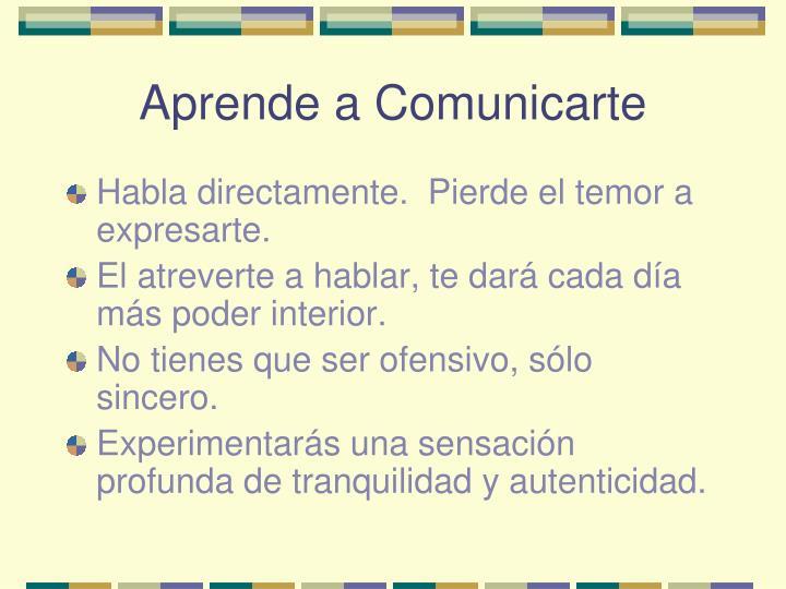 Aprende a Comunicarte
