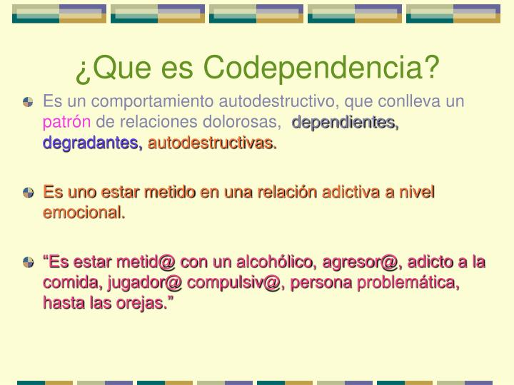 Que es codependencia