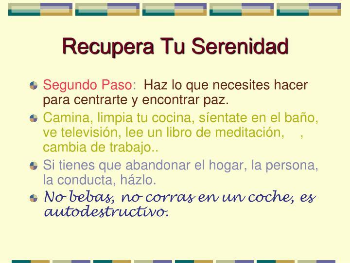 Recupera Tu Serenidad