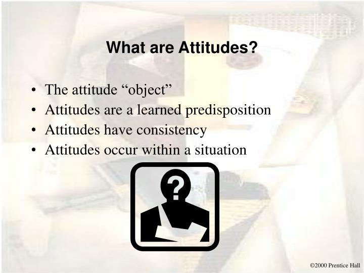 What are attitudes