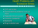 health problems with excessive stress