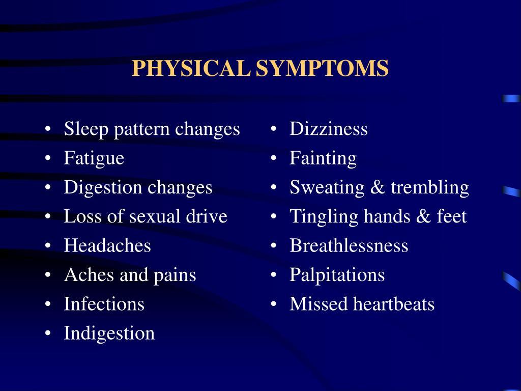Sleep pattern changes