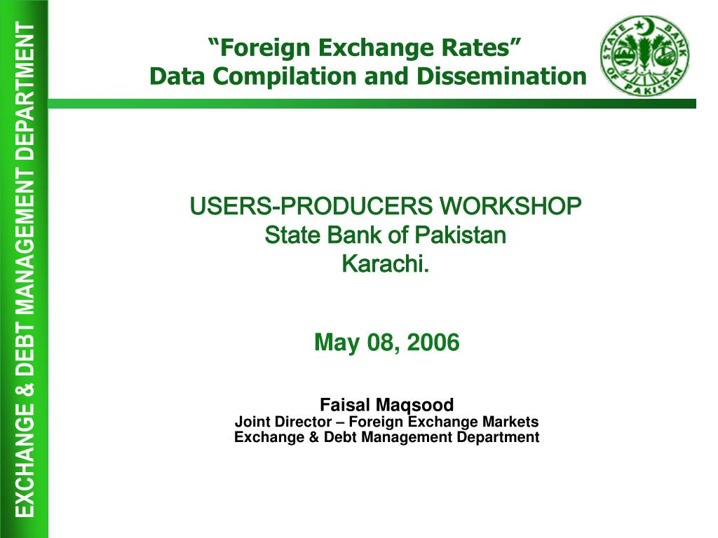 Ppt Users Producers Work State Bank Of Stan Karachi