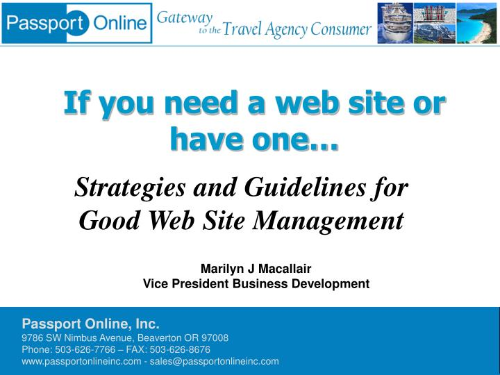 if you need a web site or have one n.