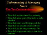 understanding managing stress43
