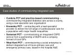 case studies of commissioning integrated care1