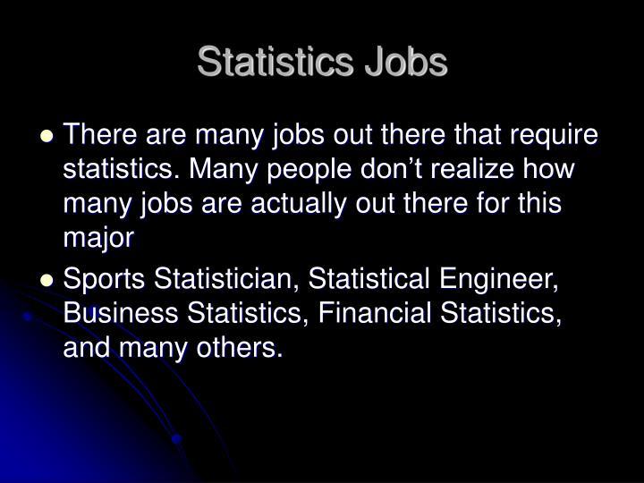 Statistics Jobs